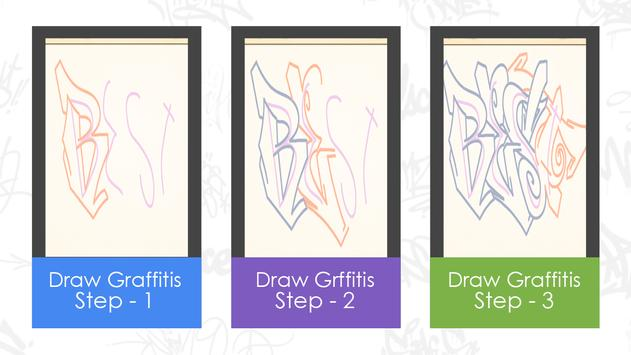 Learn to draw graffitis poster