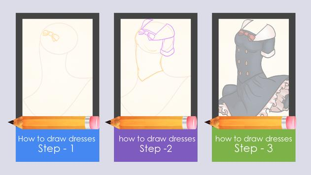 Learn to draw dresses poster