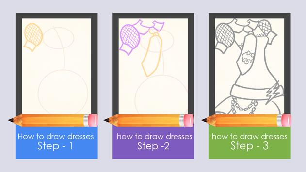 Learn to draw dresses apk screenshot
