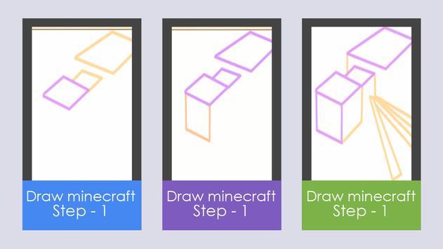 Draw Minecraft poster
