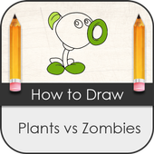 How to Draw Plant vs Zombies icon
