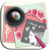photo frames love cards icon