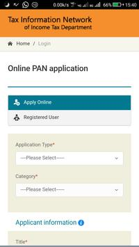 Pan Card Apply Online screenshot 1