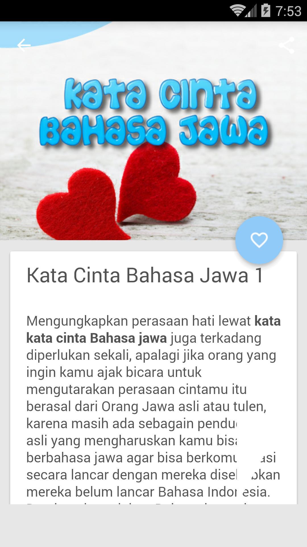 Kata Kata Cinta Bahasa Jawa Für Android Apk Herunterladen