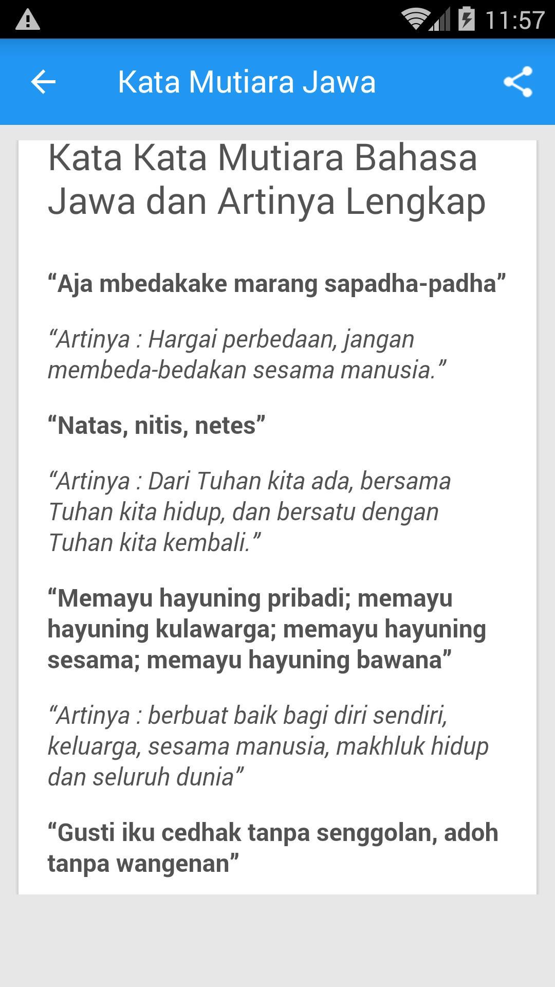 Kata Kata Mutiara Bahasa Jawa For Android Apk Download