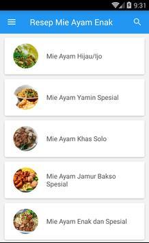 Resep Mie Ayam Enak screenshot 1