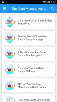 Tips dan Cara Menurunkan Berat Badan poster