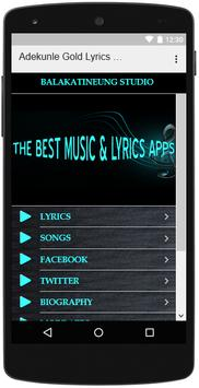 Adekunle Gold Songs Lyrics screenshot 2
