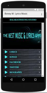 Boney M. Songs Lyrics apk screenshot