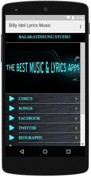 Billy Idol Songs Lyrics screenshot 2