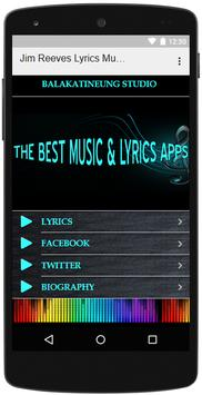 Jim Reeves Lyrics Music screenshot 2