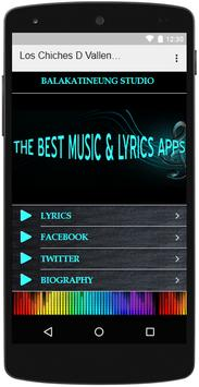 Los Chiches D Vallenato Lyrics apk screenshot