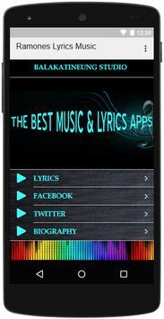 Ramones Lyrics Music screenshot 2