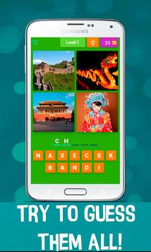 4 Pics 1 Word - Country Quiz poster