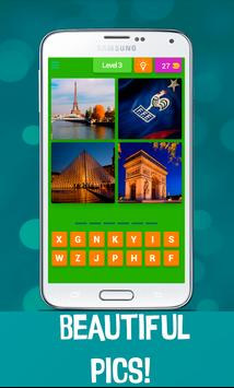 4 Pics 1 Word - Country Quiz apk screenshot