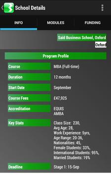 Shortlist MBA - UK B-Schools apk screenshot