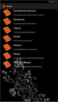 Aplikasi Tarian Bali apk screenshot