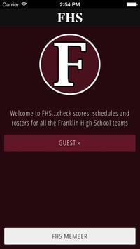 Franklin High School Rebels poster