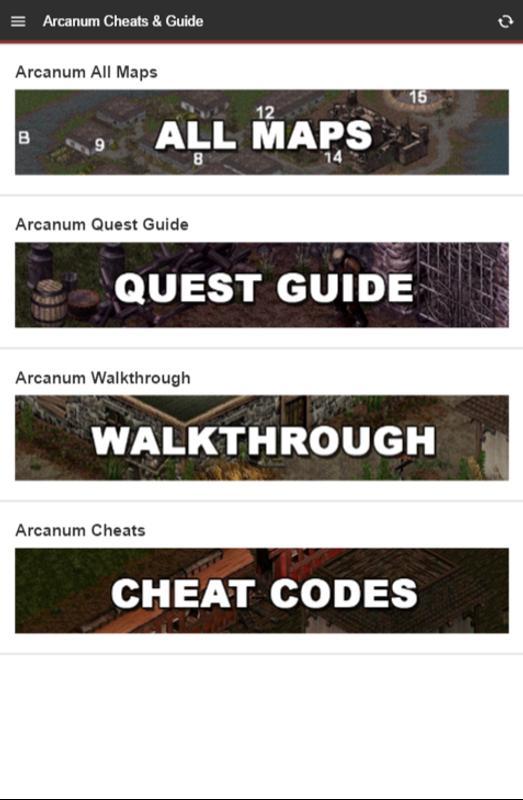 Arcanum cheats