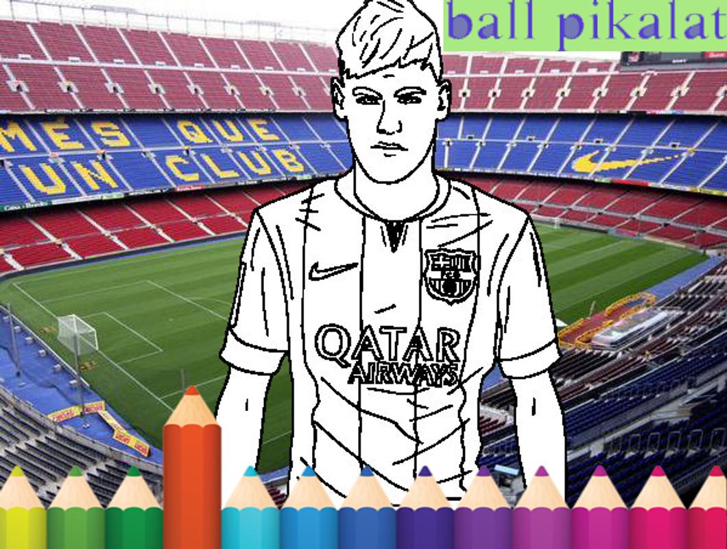 Football coloring kids game screenshot 3