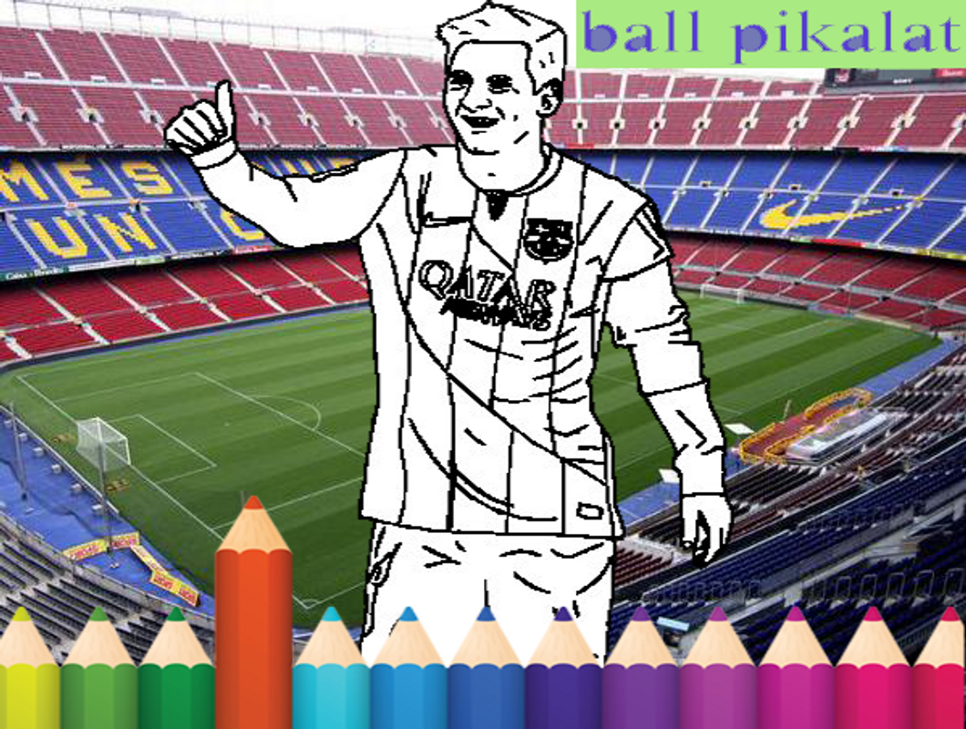 Football coloring kids game poster