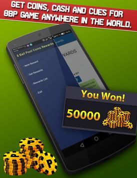 8Ball Pool instant Rewards: unlimited coins & cash screenshot 1