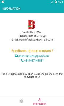 Bambi Flash Cards apk screenshot
