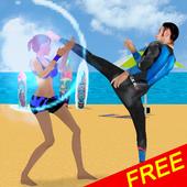 Surfer Fight Beach icon