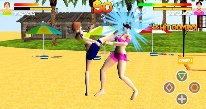 Volleyball Beach Girl Fight screenshot 1