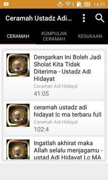 Ceramah Ustadz Adi Hidayat poster