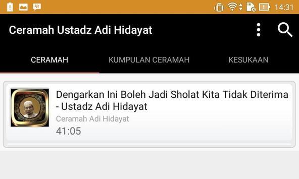 Ceramah Ustadz Adi Hidayat screenshot 3