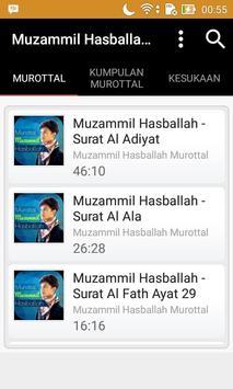 Muzammil Hasballah Murottal poster