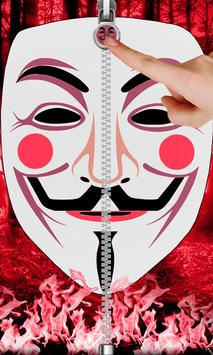 Anonymous Zip Screen Lock poster