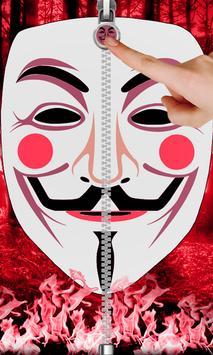 Anonymous Zip Screen Lock poster
