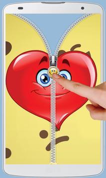 Smiley Love Zipper Lock screenshot 4