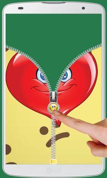 Smiley Love Zipper Lock screenshot 5