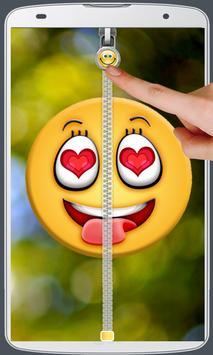 Smiley Love Zipper Lock screenshot 6