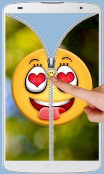Smiley Love Zipper Lock screenshot 7