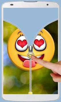 Smiley Love Zipper Lock screenshot 2