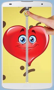 Smiley Love Zipper Lock screenshot 3