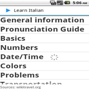 learn Italian poster