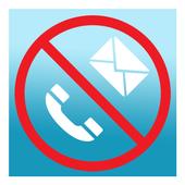 SMS blocker, call blocker icon