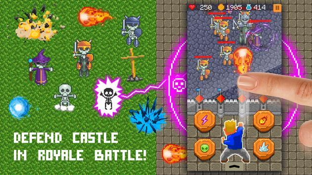 Pixel zone: Castle survive poster