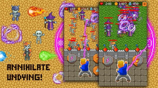 Pixel zone: Castle survive apk screenshot