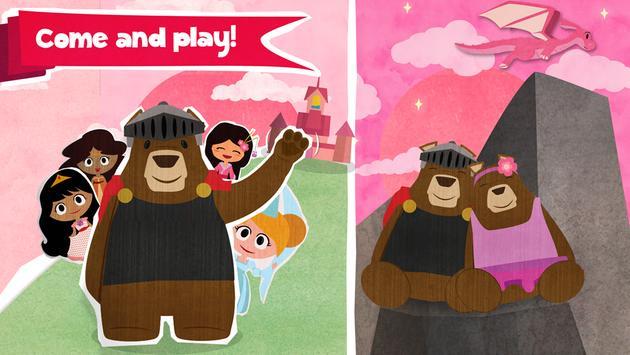Beauty Princess & Beast Bear poster