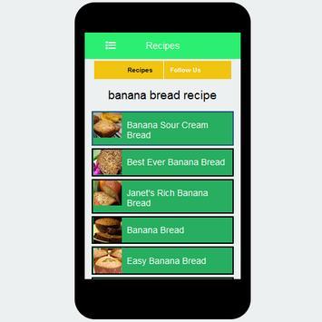 banana bread recipe screenshot 2