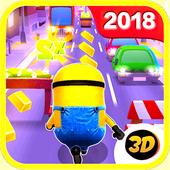 Banana minions subway rush 3D icon