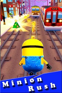 Banana minions subway rush 3D poster