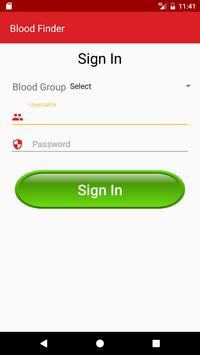 BloodFinder apk screenshot