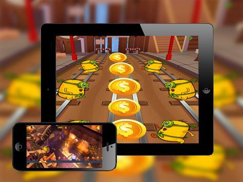 Super banana Subway adventure apk screenshot